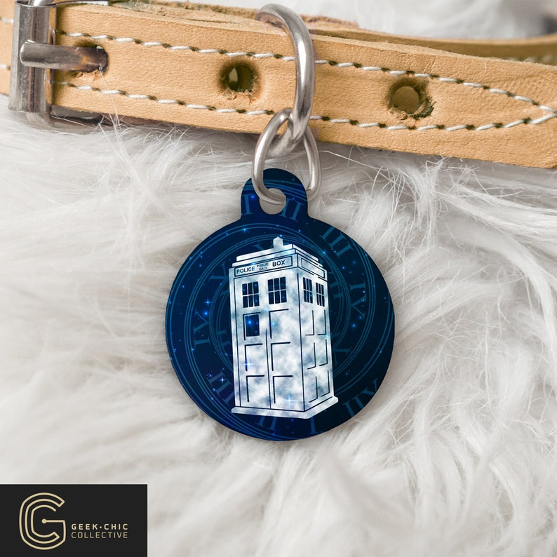 Tardis Doctor Who-inspired Pet Tag image 0