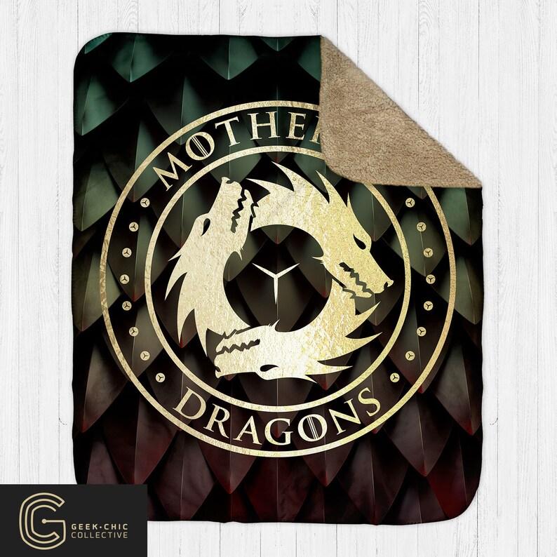 Mother of Dragons: GOT-inspired Sherpa Blanket image 0