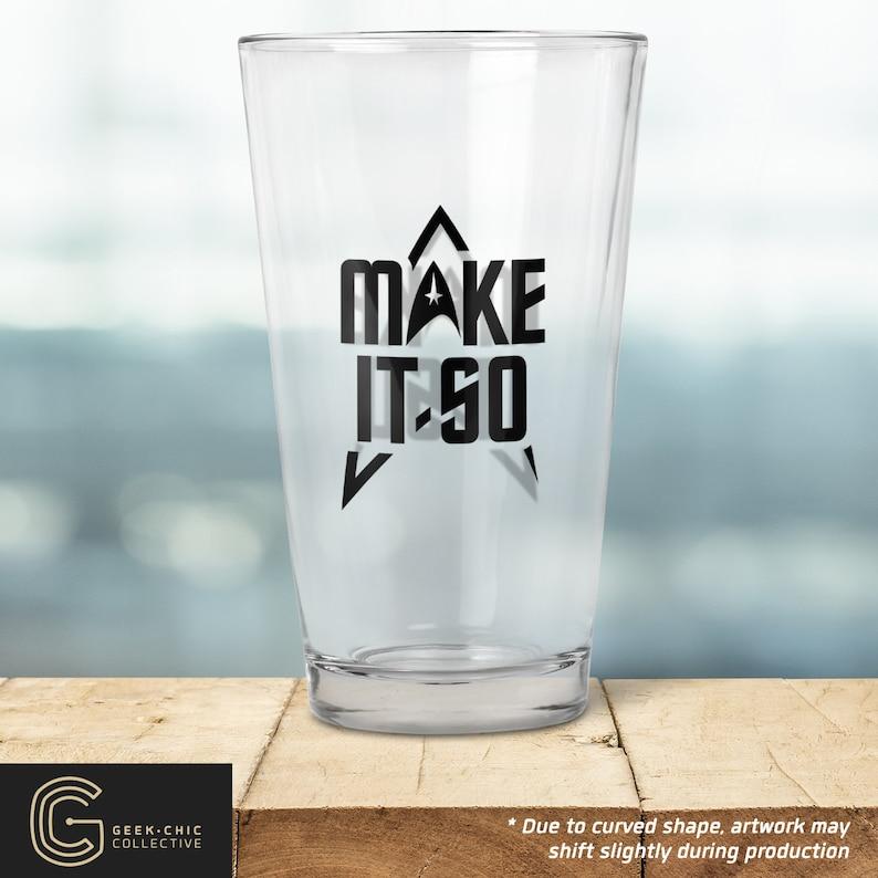 Star Trek-inspired Pint Glass image 0