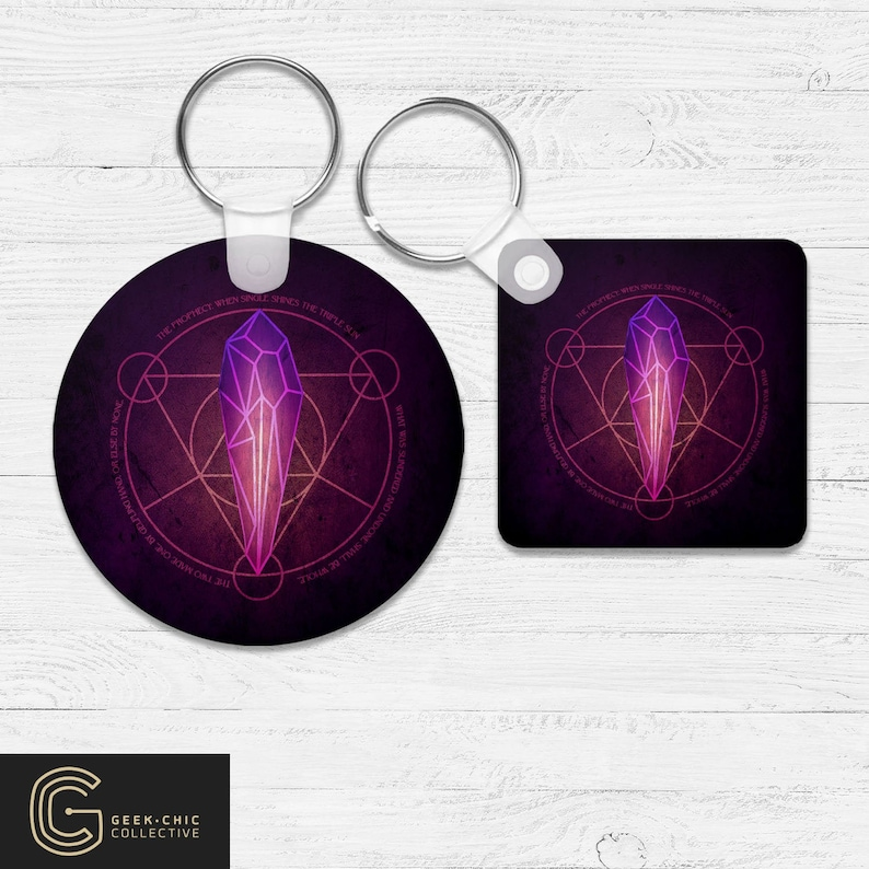 Dark Crystal prophecy-inspired Key Chain image 0