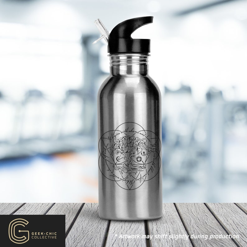 ADOW Book-inspired Stainless Steel Water Bottle with Straw image 0