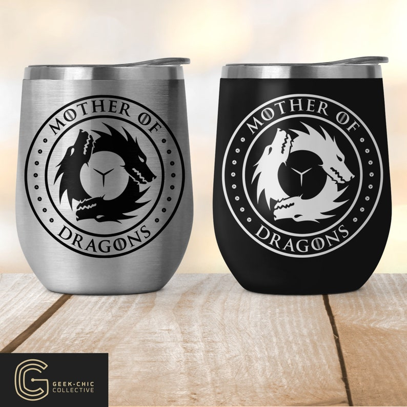 Mother of Dragons: GOT-inspired Stainless Steel Wine Tumbler image 0