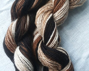 Hand Spun Alpaca Gradient Stripes 0318