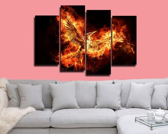 Hunger Games Mockingjay Poster Games Canvas Print Wall Decor Wall Art Large Print Multi Panel Home Decoration Birthday gift Canvas art