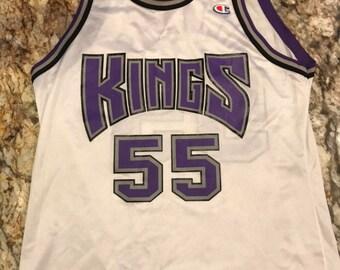 Vintage Champion Jason Williams Sacramento Kings Rare White Jersey Size 40 262fcad86