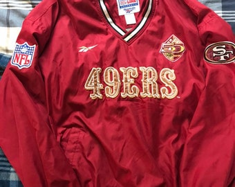 Vintage Pro Line Authentic San Francisco 49ers Pullover Jacket 50th 3c53f5f34