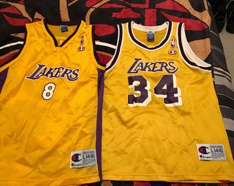 8416c5f3d Vintage Champion Kobe and Shaq Los Angeles Lakers Jersey Lot Size Youth L 14 -16