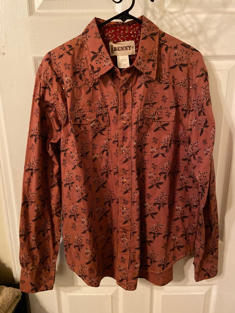 Vintage Wrangler Benny Pearl Snap Button Up Shirt Western Rodeo Size XL