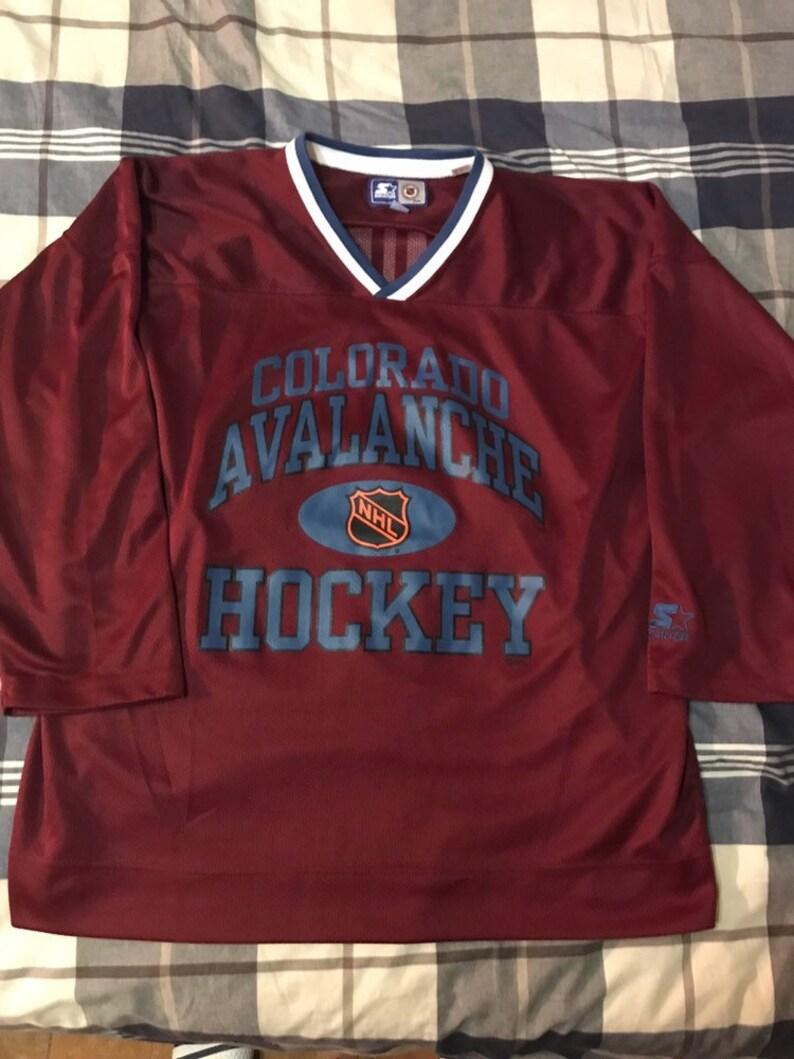 Vintage Starter Colorado Avalanche Lemieux 22 NHL Hockey  0ab2e19d9