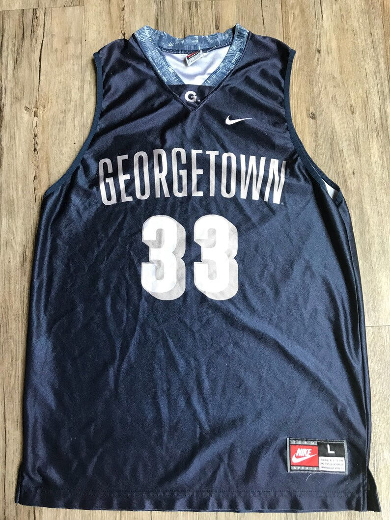 cheap for discount 0b7ea c6943 Vintage Nike Patrick Ewing Georgetown College Jersey Size Mens Large