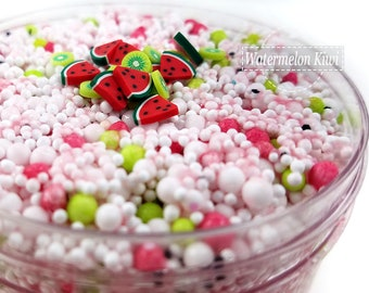 Watermelon Kiwi Floam Slime - Popular Slime - Pink Slime