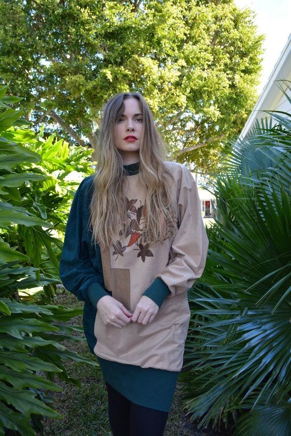 vintage 80s sweater / vintage 80s tunic / 80s swea