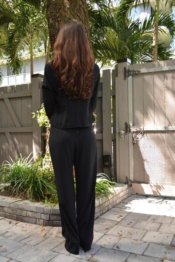 vintage black suit set / suit set / y2k suit set … - image 8