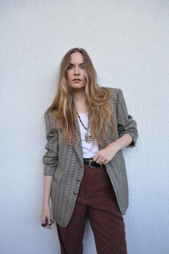 vintage blazer / vintage multi colored blazer / vi