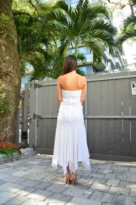 vintage silk dress/ white silk bridal dress / whi… - image 6