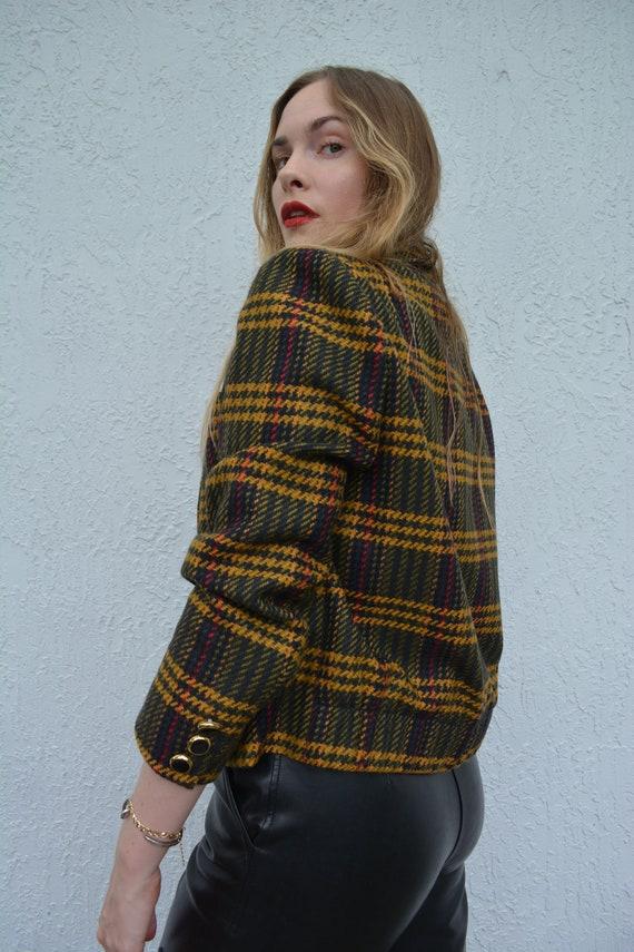 vintage cropped blazer / clueless blazer / wool c… - image 5