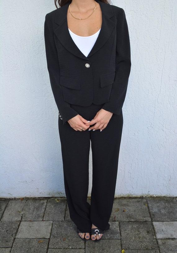 vintage black suit set / suit set / y2k suit set … - image 6