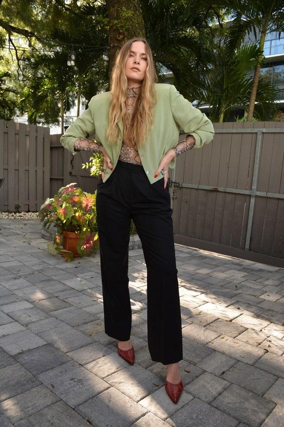 vintage black trouser / wool trouser / womens trou
