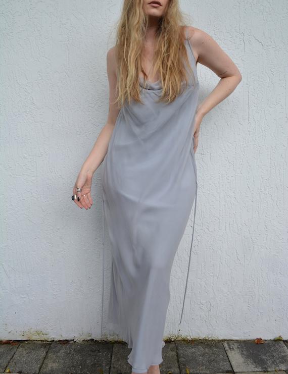 vintage silk slip dress / 90s slip dress / handmad