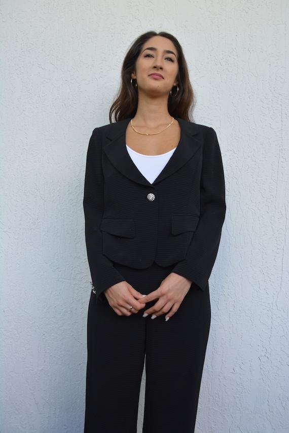 vintage black suit set / suit set / y2k suit set … - image 7