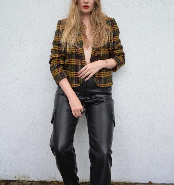 vintage cropped blazer / clueless blazer / wool c… - image 3