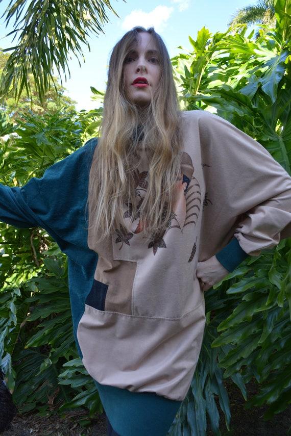 vintage 80s sweater / vintage 80s tunic / 80s swe… - image 6