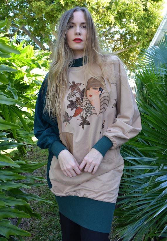 vintage 80s sweater / vintage 80s tunic / 80s swe… - image 5