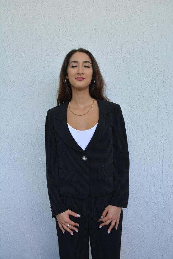 vintage black suit set / suit set / y2k suit set … - image 5