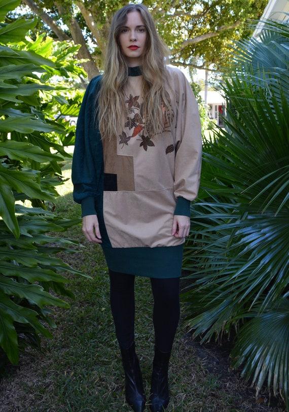 vintage 80s sweater / vintage 80s tunic / 80s swe… - image 2