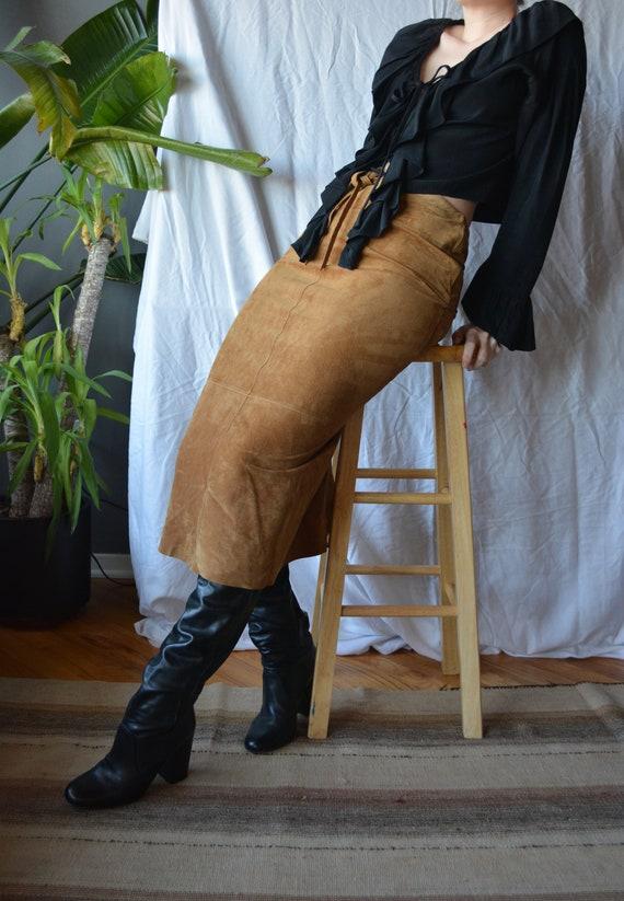 vintage suede skirt / ralph lauren / ralph lauren