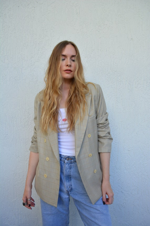 vintage double breasted blazer / vintage womens bl
