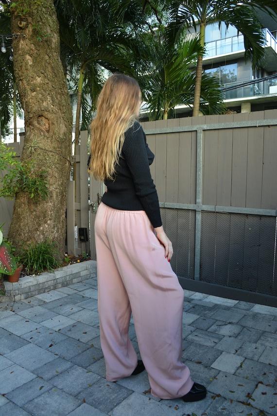 vintage pink trousers / vintage y2k trousers / y2k