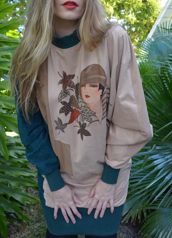 vintage 80s sweater / vintage 80s tunic / 80s swe… - image 9