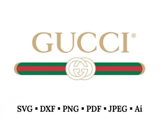 Gucci vintage inspired logo vector art svg dxf fxg pdf etsy - Images of gucci logo ...