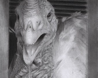 Ezra - Drawing of a Turkey Bound for Slaughter (30% of profits go to an animal sanctuary)