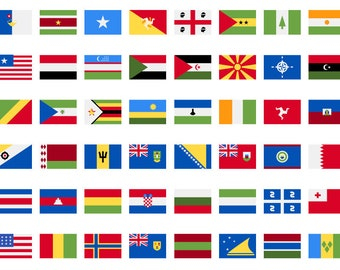 country flags etsy