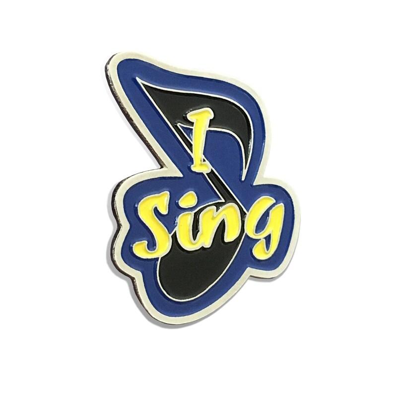 I Sing Enamel Pin image 0
