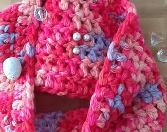 Ladies Scarf, Beautiful colors Cowl, Crocheted Cozy Scarf, Crocheted Cowl, Smooth Cowl, Stylish Scarf, Handmade Scarf, Warm Cowl, Soft Scarf