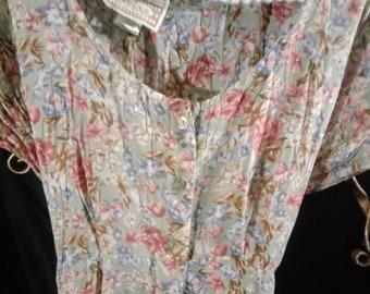 1980's BonJour Granny Dress Floral