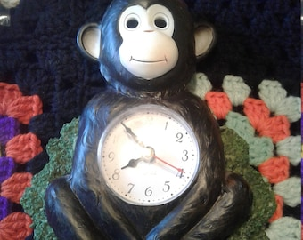 Vintage Monkey Clock Re-purpose/upcycle