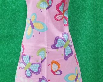 Pink Butterfly Small Adult Apron