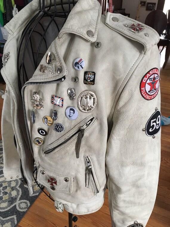 Motorrad Jacke weiß benutzerdefinierte Union Jack