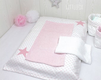 Diaper cover pink and white