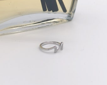 Heartbeat - Sliver adjustable ring