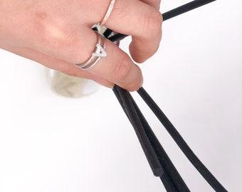 Letter - Sliver*Gold Adjustable Double Ring
