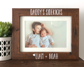 Daddys Sidekicks Picture Frame Gift To Dad From Kids Sons Christmas Fathers Day Birthday Ideas