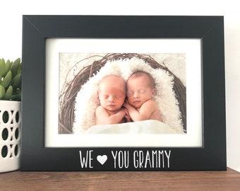 Nana/'s Mothers Day gift Grammy sign Personalized Grammy gift Personalized photo frame Gift for Grammy Grammy frame Gigi wood signs