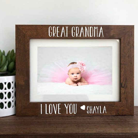 Great Grandma I love You Picture Frame Gift Great Grandma | Etsy