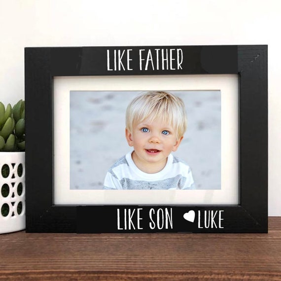 Like Father Like Son Picture Frame Fathers Day Gift Etsy