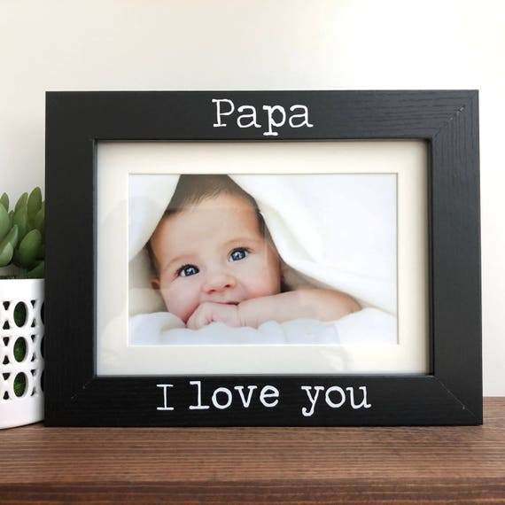 Papa I love you Picture Frame // Grandpa Gift | Etsy